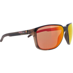 Red Bull SPECT Bolt Sunglasses Men, shiny x'tal brown/brown-red mirror